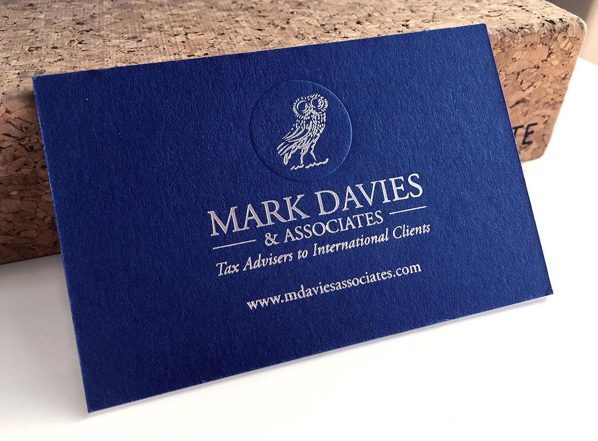 Mark Davies Associates Business Cards